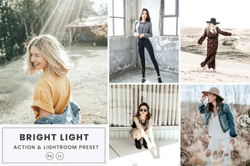 Bright Light Action & Lightrom Presets