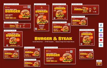 Burger and Steak Social Pack