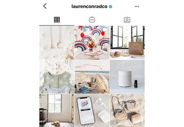 Elegant feminine Instagram feed style