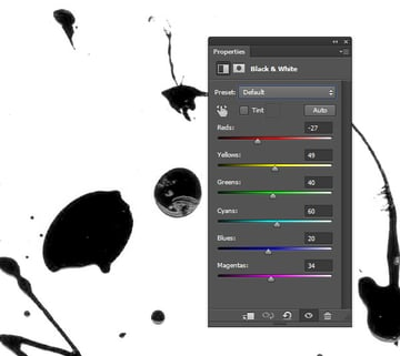 Convert image color to black and white