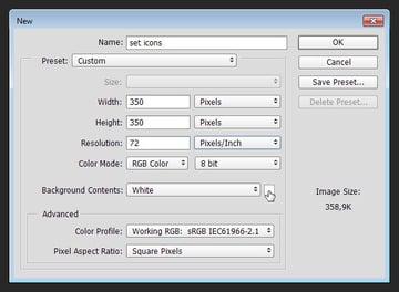 Preparing Canvas - New file