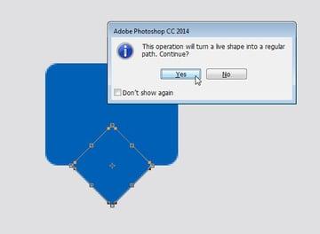 Designing Icon Base - Confirmation on turning live shape into regular path