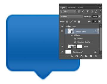 Designing Icon Base - Reduce Fills layer