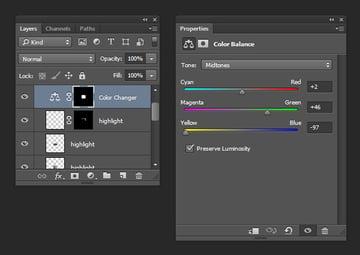 Icon Shadow - Adjust sliders
