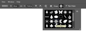 Add Icon Sign - Select snowflake shape