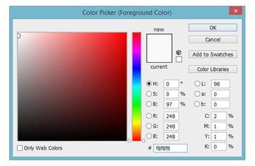 Select canvas color