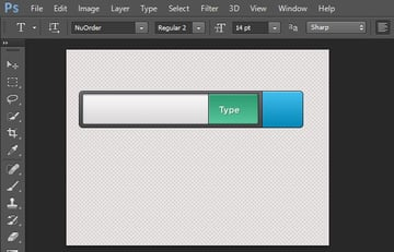 Search bar label with layer styles
