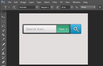 Add label in search area