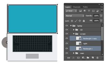 Select screen vector shape