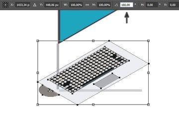 Rotate keyboard 180 degree