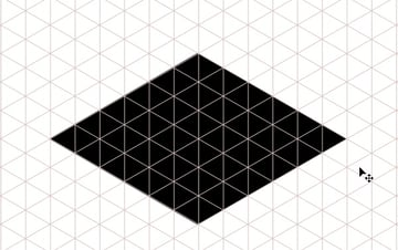 Draw basic map shape in isometric perspective
