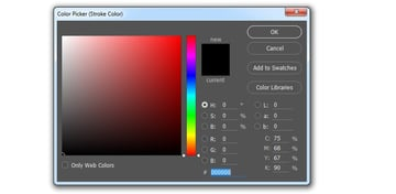 Select black color
