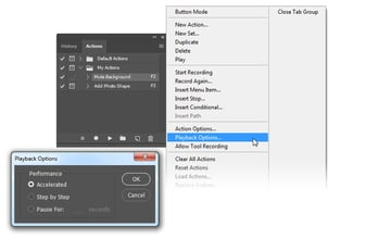 Slow down action playback by setting it to Step by Step