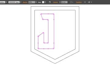 Apply corner radius to all points