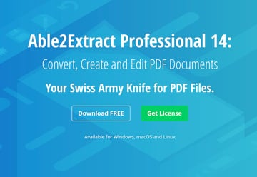 Able2Extract Professional PDF editor