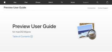 Preview macOS PDF reader