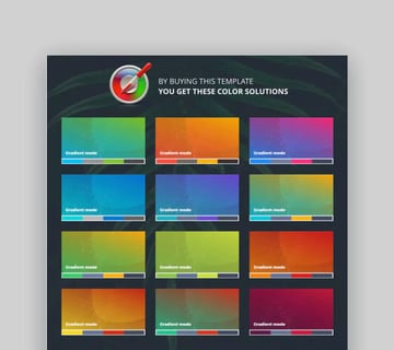 Pitch Deck Ready Google Slides Template Color Schemes