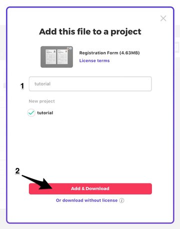 Add File to a Project then Download It