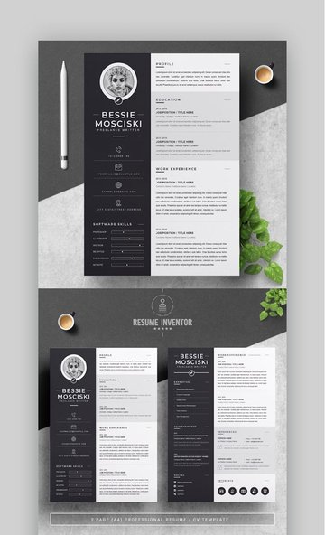 Monochrome Resume Template