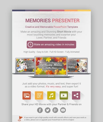 Memories Presenter PowerPoint Template
