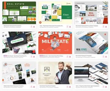 Templates for a Real Estate Listing Presentation