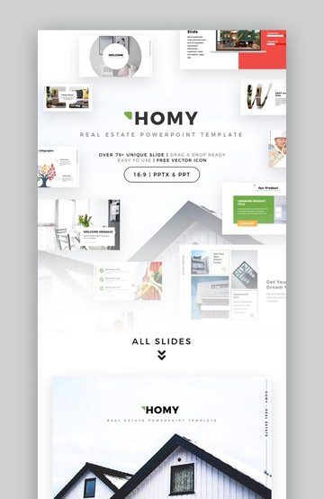 Homy - Multipurpose Real Estate Powerpoint Template