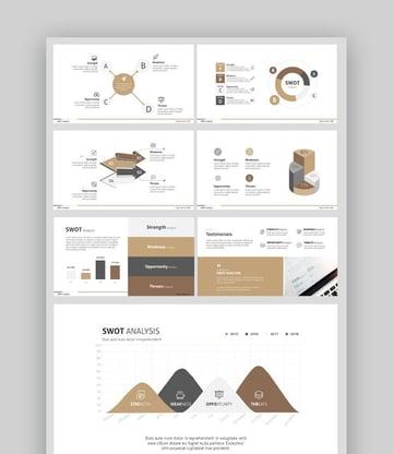 Infographic Presentation Slides Templates-SWOT