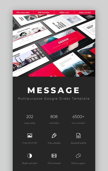 Message Multipurpose Google Slides Template