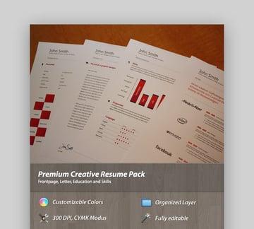 Premium Creative Resume Pack