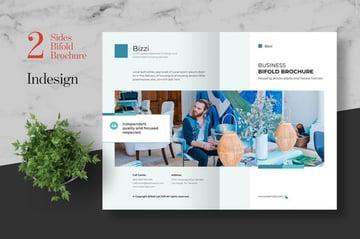 Clean Business Bifold Brochure Template