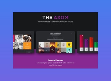 Axom Google Slide Template with icons