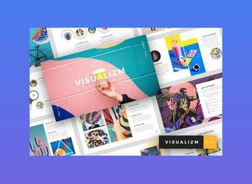 Visualizm - Pop Art Google Slides Template with slide icons