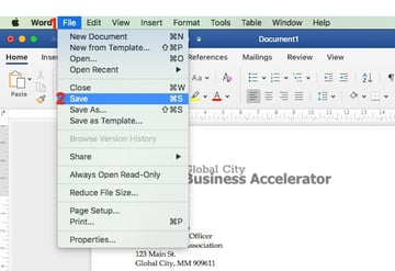 Save Your File in Word