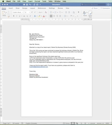Business Letter from Scratch
