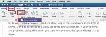Insert logo in Microsoft Word footer