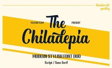 Chiladepia Font Duo - Script and Sans Serif