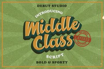 Middle Class Script - vintage font