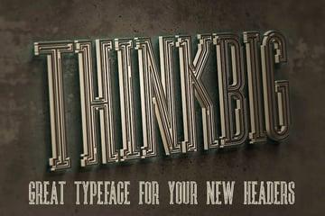 Ultra 3D Microsoft Word font