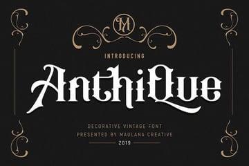 Anthique Vintage Typeface
