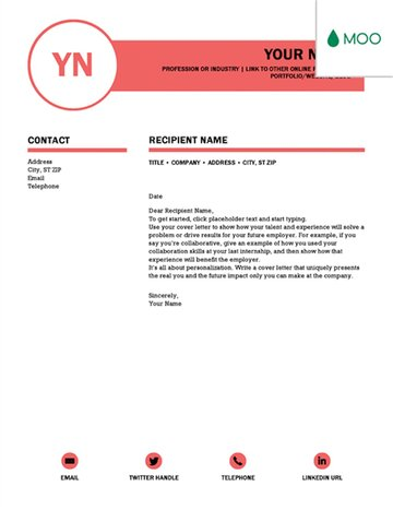 Polished cover letter template for Word