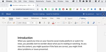Edit Word doc in browser