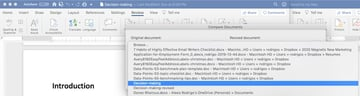 Compare two Word documents