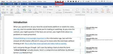Compare 2 Word documents