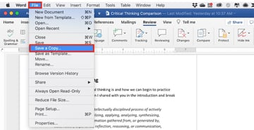 Compare Word documents not working