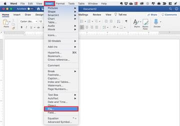 Microsoft Word merge documents