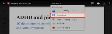 Google Docs - Open PDF