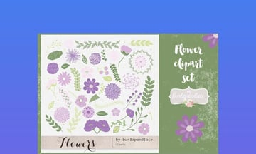 Clip Art for Word - Flower Set