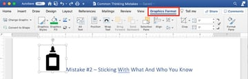Microsoft clip art - graphics format tab