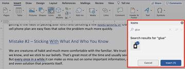 Microsoft clip art - search and insert
