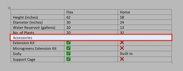 Edit a table in MS Word - Cells merged